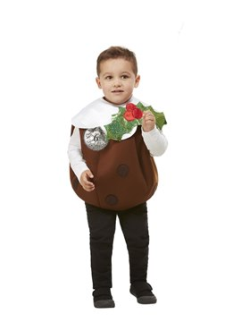 Child 3D Christmas Pudding Costume - Back View