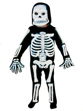 Childrens 3D Skeleton Costume