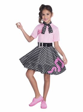 Child 50s Rock and Roll Costume - Side View