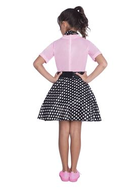 Child 50s Rock and Roll Costume - Back View