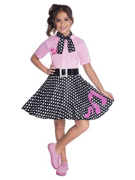 Child 50s Rock and Roll Costume