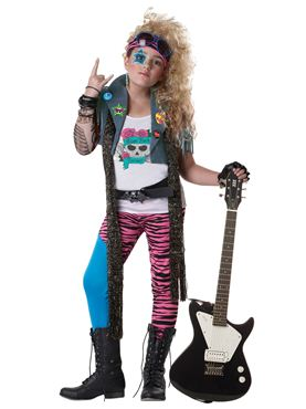 Child 80s Glam Rocker Costume