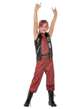 Child 90s Punk Rocker Costume - Back View