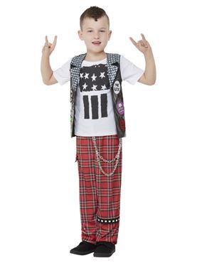 Child 90s Punk Rocker Costume - Back View