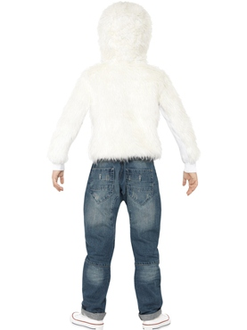 Child Abominable Snowman Costume - Side View