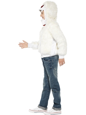 Child Abominable Snowman Costume - Back View
