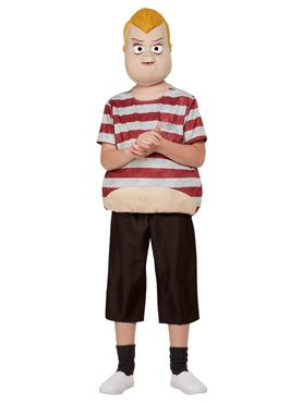 Child Addams Family Pugsley Costume - Side View