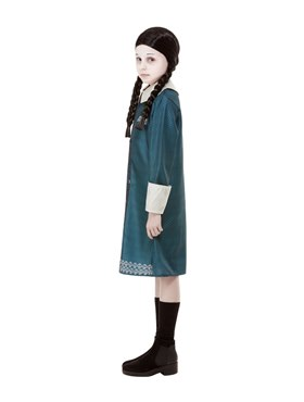 Child Addams Family Wednesday Costume - Back View