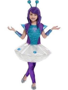 Child Alien Girl Costume - Back View
