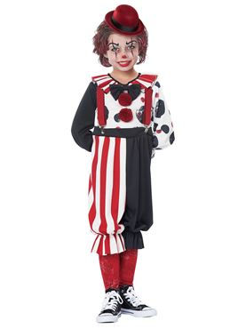 Child & Toddler Kreepy Klown Kid Costume - Side View