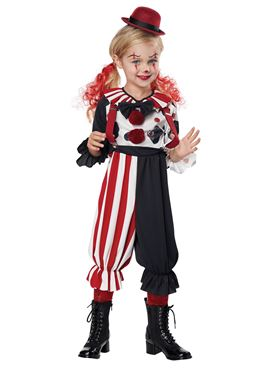Child & Toddler Kreepy Klown Kid Costume - Back View