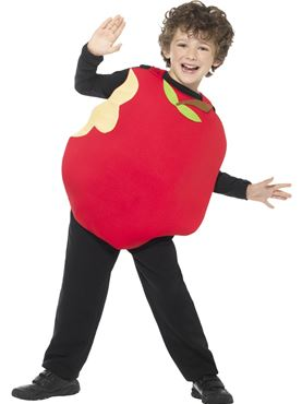 Child Apple Costume - Back View