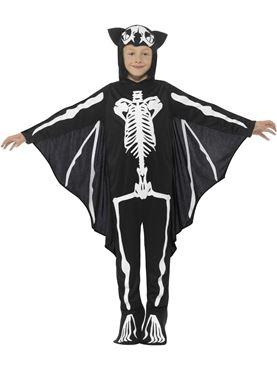 Child Bat Skeleton Costume - Side View