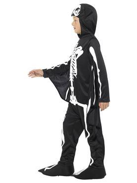 Child Bat Skeleton Costume - Back View