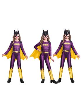 Child Batgirl Comic Style Costume - Side View