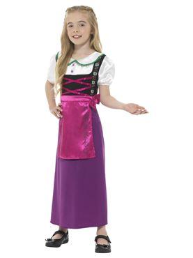 Child Bavarian Princess Costume - Side View