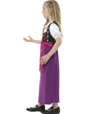 Child Bavarian Princess Costume - Back View