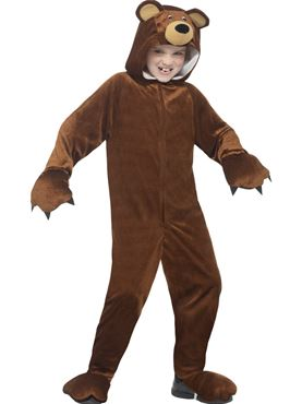 Child Bear Onesie Costume - Back View