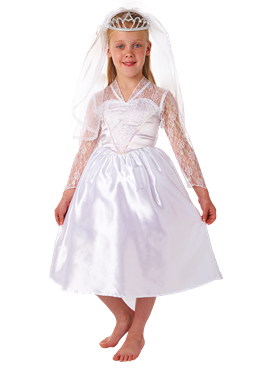 Child Beautiful Bride Costume Couples Costume