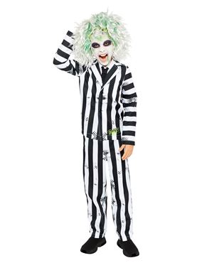 Child Boys Beetlejuice Costume - Side View