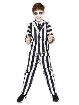 Child Boys Beetlejuice Costume - Back View