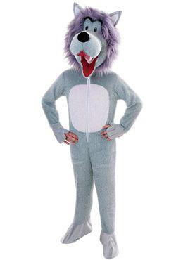 Child Big Head Wolf Costume