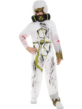 Child Biohazard Suit Costume - Back View