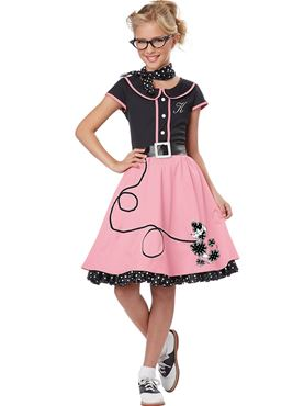 Child Black and Pink 50s Sweetheart Costume