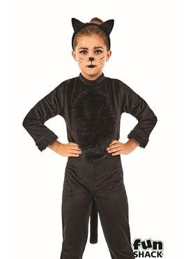 Child Black Cat Girl Costume - Back View  sc 1 st  Fancy Dress Ball & Child Black Cat Girl Costume - FS4411 - Fancy Dress Ball