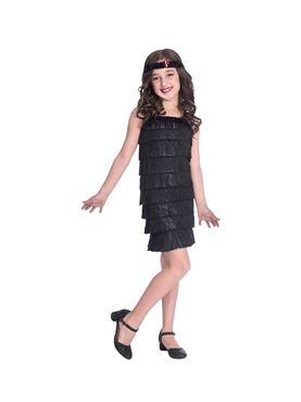 Child Black Flapper Costume