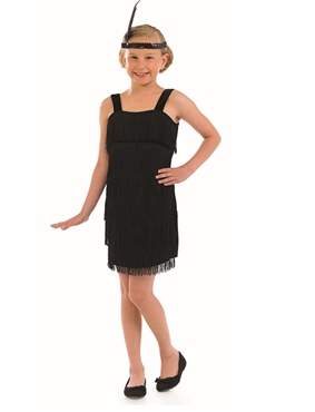 Child Black Flapper Costume