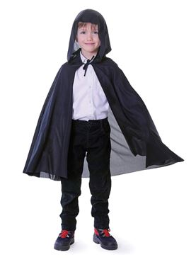 Child Black Hooded Cape