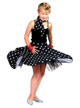 Child Black Rock n Roll Skirt