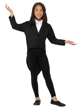 Child Black Tailcoat - Side View