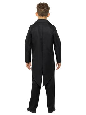 Child Black Tailcoat - Back View