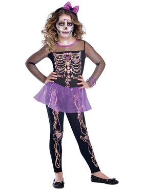 Child Bling Bones Cutie Costume