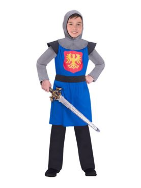 Child Blue Medieval Knight Costume
