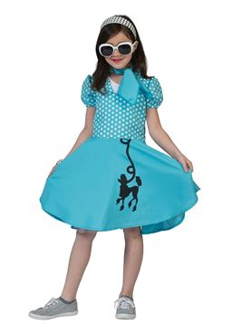 Child Blue Poodle Dress Costume