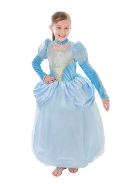 Child Deluxe Cinder Blue Princess Costume