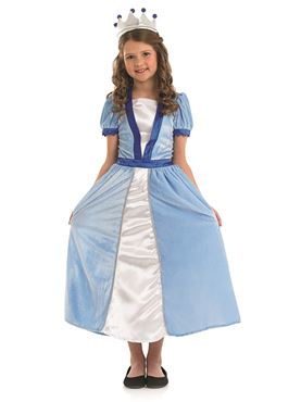 Child Blue Princess Costume Couples Costume