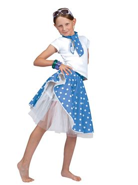Child Blue Rock n Roll Skirt