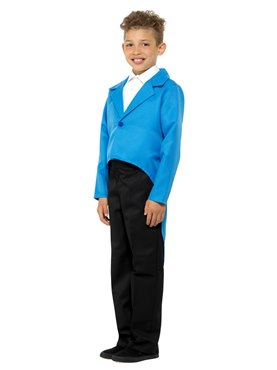 Child Blue Tailcoat - Back View