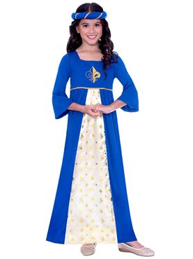 Child Blue Tudor Princess Costume Couples Costume