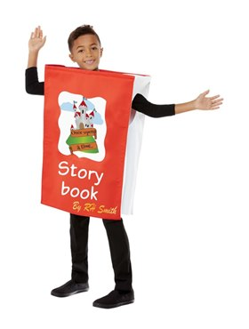 Child Book Costume - Back View