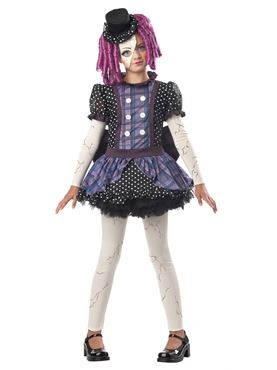 Child Broken Doll Costume