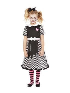 Child Broken Doll Costume