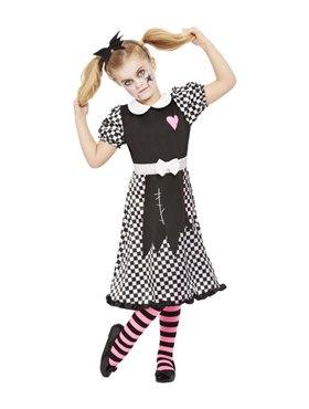 Child Broken Doll Costume - Back View