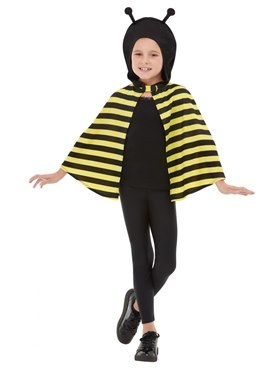 Child Bumblebee Hooded Cape