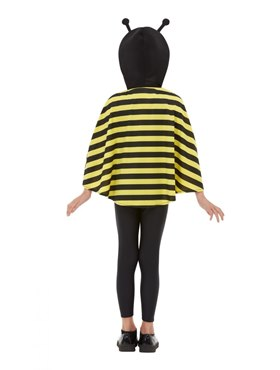 Child Bumblebee Hooded Cape - Back View