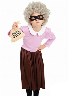 Child Burglar Granny Costume - Back View